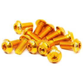 Tr!ckstuff Ultraleichte-Bremsscheibenschrauben Aluminium M5x10 T20 12 Stück gold